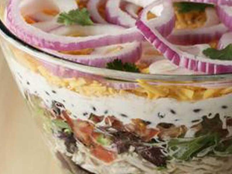 Layered Southwest Salad