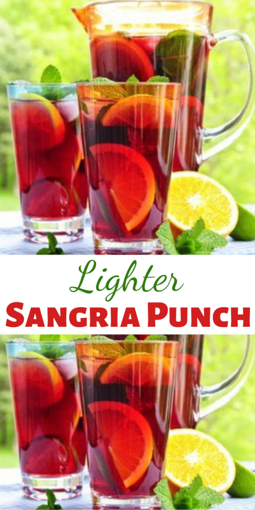 Recipe for Lighter Sangria Punch – Unfortunately, calories still count when you consume them through a straw, but look how light and refreshing this Sangria Punch is.