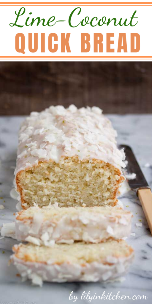 Recipe for Lime-Coconut Quick Bread – Oh my gosh you guys, this bread is amazing! I wish I could have bottled up the smell in my kitchen while I was making it because it smelled like a delicious tropical paradise.