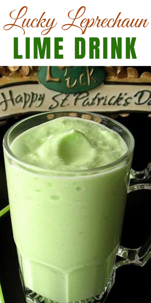 Recipe for Lucky Leprechaun Lime Drink – A tangy St. Pattys day drink for the whole family!