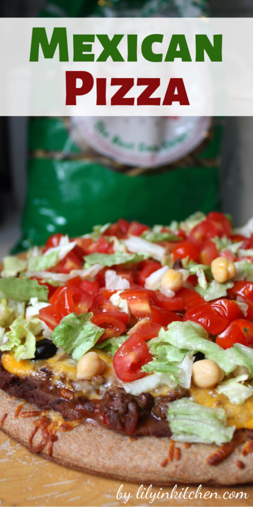 Recipe for Mexican Pizza – When I need a quick and easy dinner, I make these satisfying pizzas that capture the flavor of Mexico.