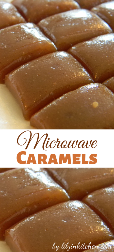 Recipe for Microwave Caramels – Make your own caramel right in the microwave. Great for a lovely gift. Or save some to add to your favorite treats.