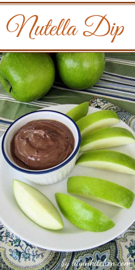 With Greek yogurt being all the rage. We decided to do up something simple and delicious. Make this Nutella Dip even better by serving with some fresh fruit.