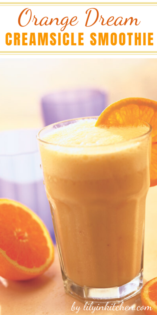 A low-calorie, healthy smoothie that tastes just like a creamsicle. A perfect post-workout thirst quencher or mid-afternoon snack.