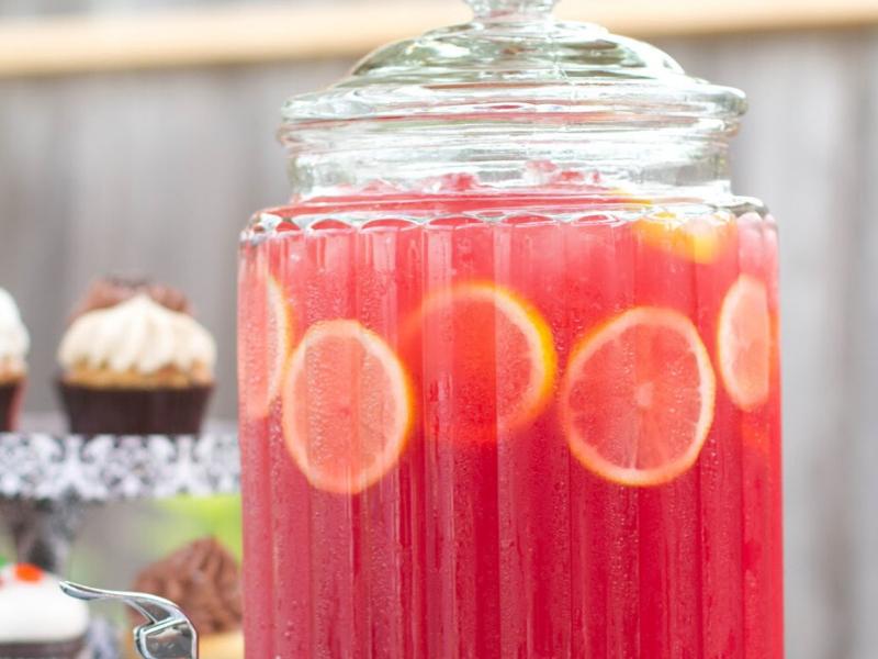 Pink Lemonade Sparkling Fruit Punch