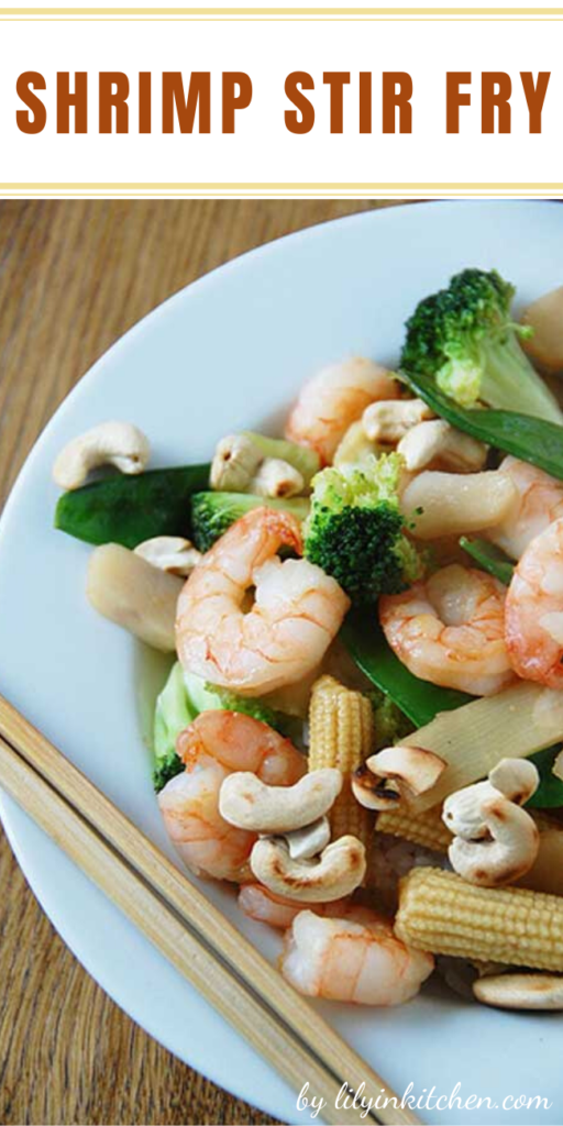 Recipe for Shrimp Stirfry – This dish is so flavorful, and shockingly, good for you! Just don't over do it!