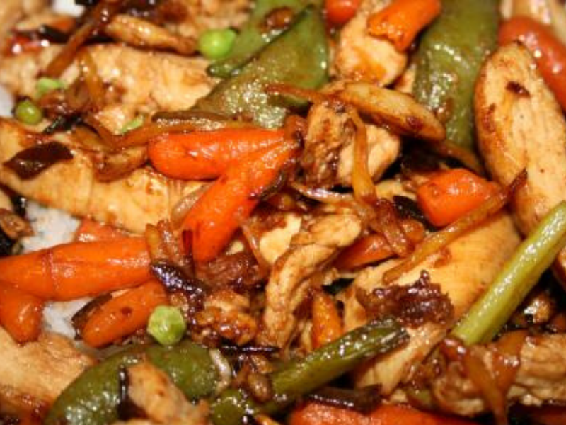 Slow Cooker Asian Chicken and Spiced Beans