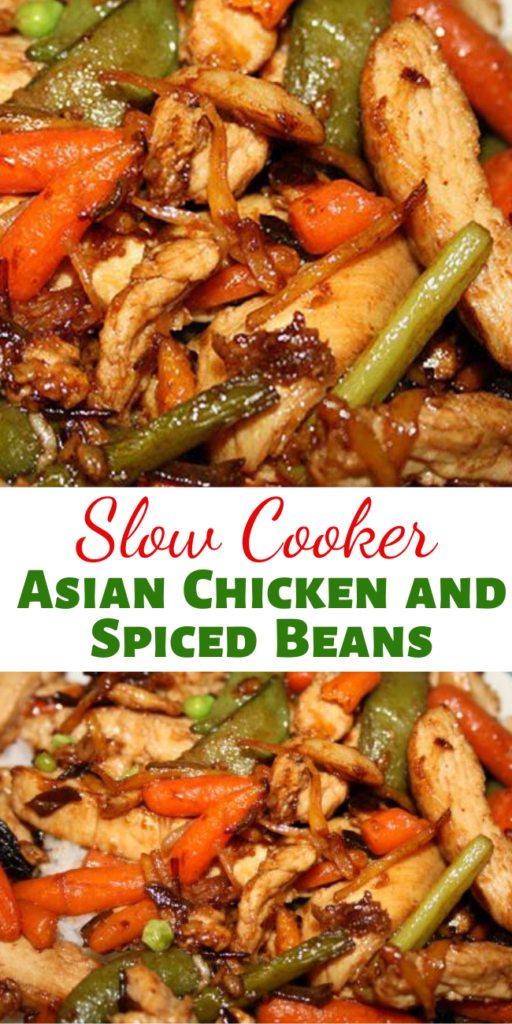 This slow cooker recipe for Asian Chicken and Spiced Beans with Rice is one of the best I've ever had. It's thick and hearty, and loaded with fiber and protein, so you feel very full with just one serving.