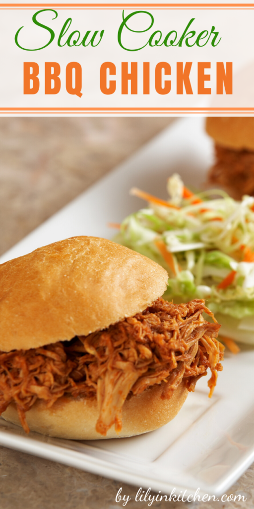 Shredded BBQ chicken right from your slow cooker. What could really be easier or better than this?