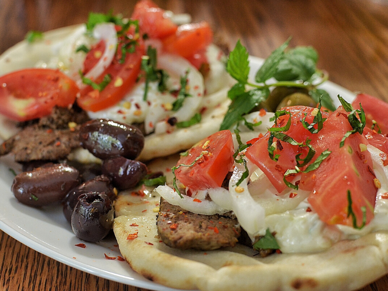 Spicy Beef Gyros with Tzatziki Sauce