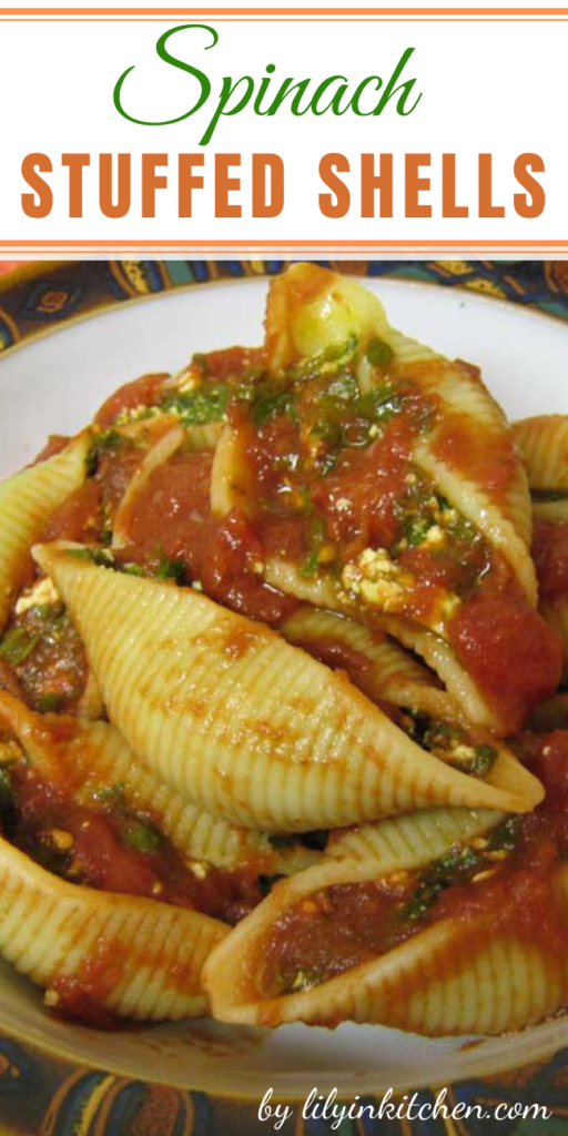 Although these stuffed shells seem to scream indulgence, the nutrition facts prove otherwise. The key to slimming down the fat and calorie content of this dish is choosing lighter options in the cheese aisle.