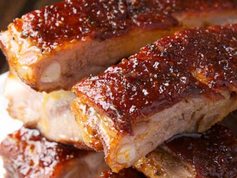 St. Louis Ribs with Maple BBQ Sauce
