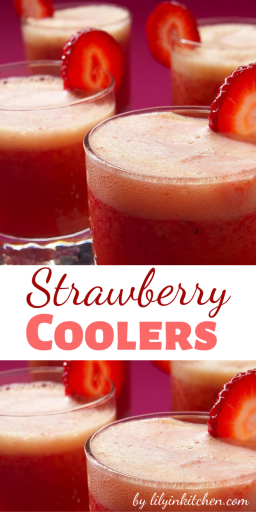 Recipe for Strawberry Coolers – This good-for-you refresher turns a lazy afternoon into a party, with appeal for thirsty kids of all ages.