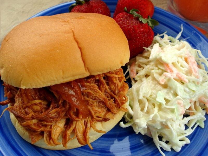 Tasty Barbecue Chicken Sandwiches in the Crock Pot
