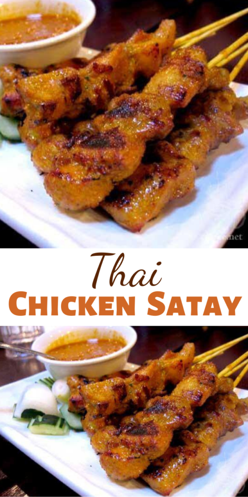 This Thai Chicken Satay is so very flavorful and tender, so tender it just melts in your mouth and the balance of flavors is so awesome.. you'll want to share!