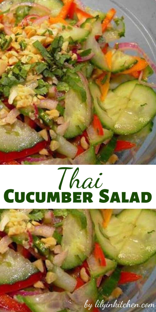This Thai Cucumber Salad is a spicy, refreshing salad that's perfect served on a hot summer evening with garden-fresh veggies.