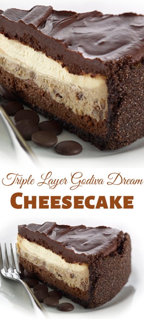Recipe for Triple Layer GODIVA Dream Cheesecake – This is the perfect thing to bring when you're an invited guest — easy to make and always a crowd pleaser!