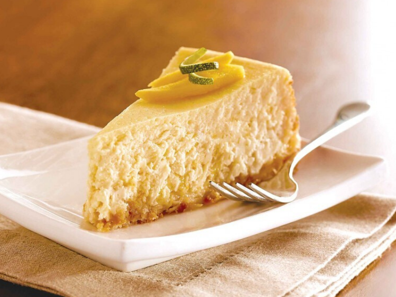 Tropical Breeze Mango Coconut Cheesecake