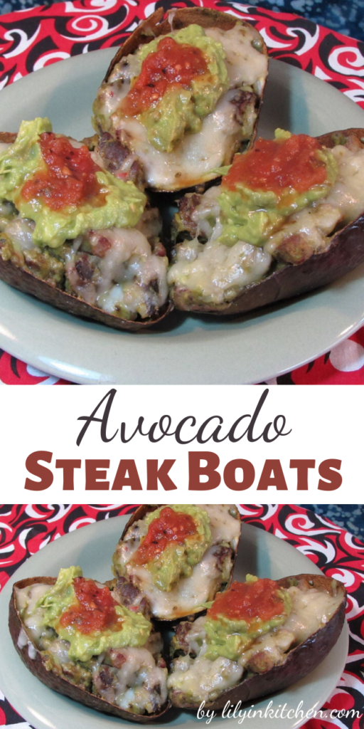 Recipe for Avocado Steak Boats – A hand held single serving of melt in your mouth happiness!