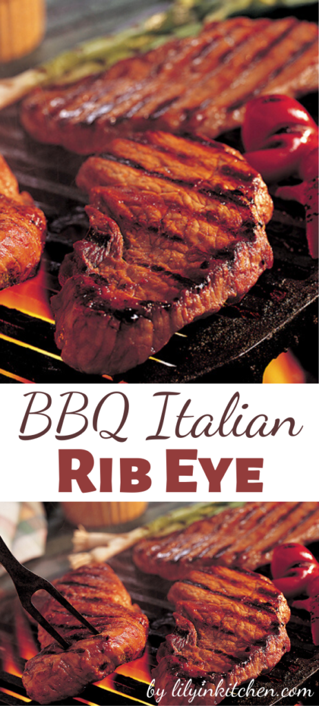 Craving Italian? Craving something from the grill? This BBQ Italian Rib Eye slams them both together on your taste buds with the juicy insides, it's just mouthwatering!