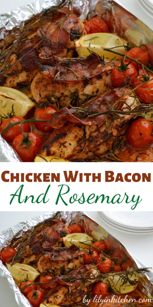 Recipe for Chicken With Bacon And Rosemary – Get dinner on the table quick with this easy, flavor packed rustic style chicken dish.