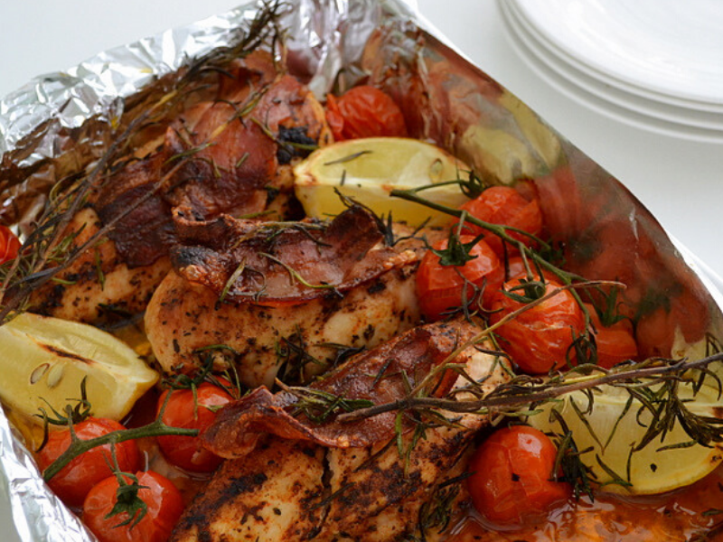 Chicken With Bacon And Rosemary