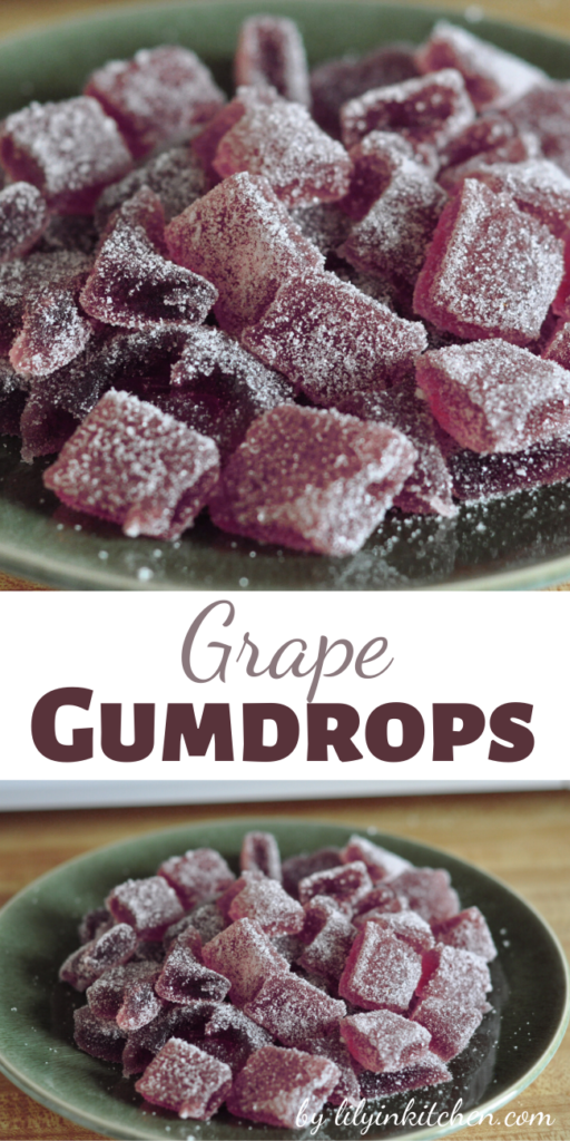 These Grape Gumdrops are made with real fruit juice, not nasty artificial flavors or gelatin!