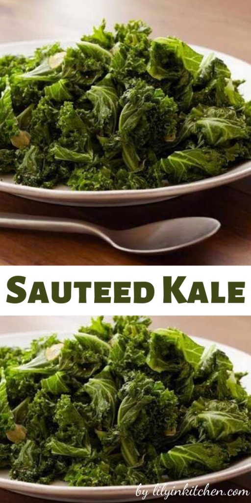 This sauteed kale is a delicious way to enjoy fresh kale. It's nutritious, delicious, and super easy to prepare!