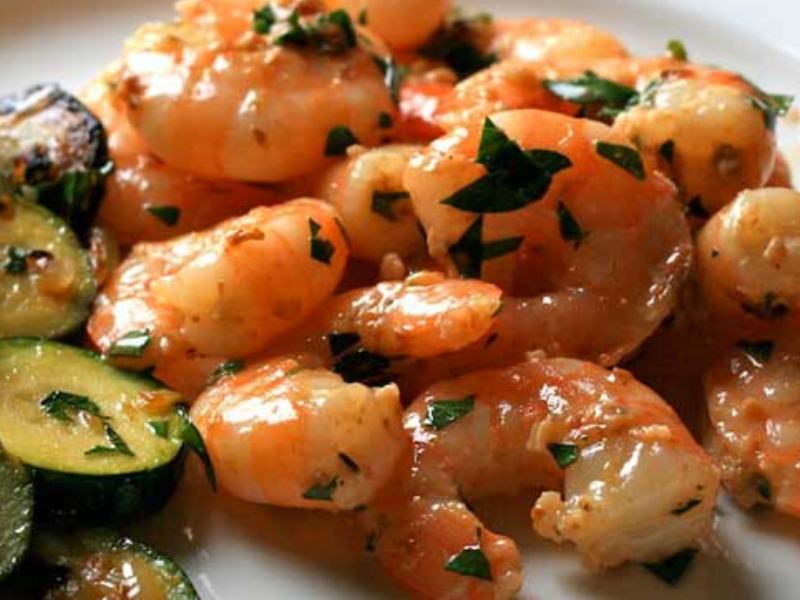 Simple and Healthy Shrimp Scampi