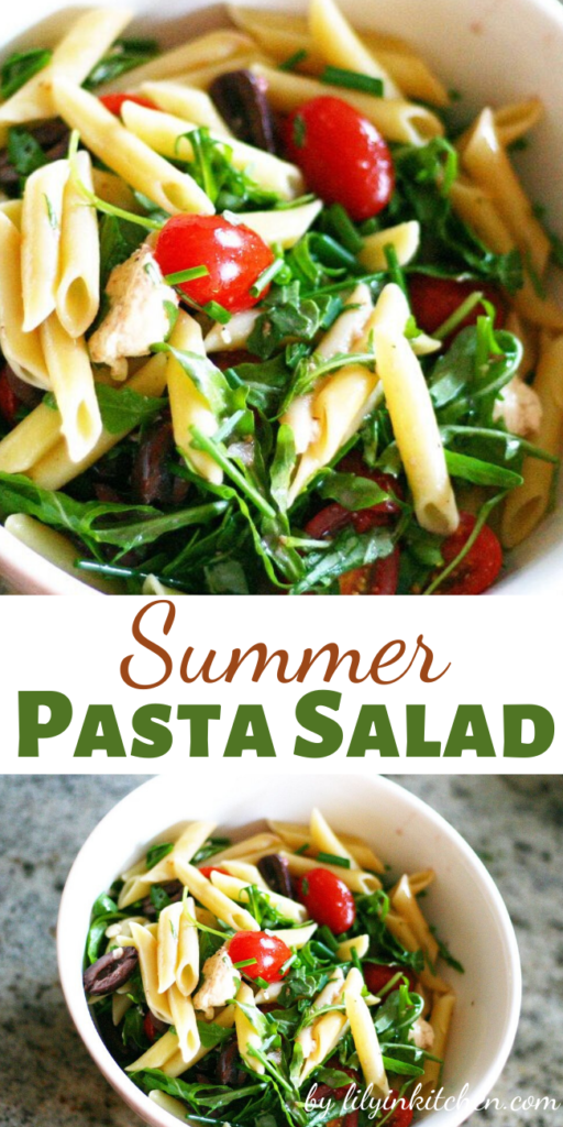 A simple, Summer Pasta Salad recipe that is perfect for all of your summer BBQ's and potlucks!  It is a great recipe for using up all of the vegetables from your garden or farmers market haul. I'm not specifying quantities as I tend to think that with salads you go for what you like.