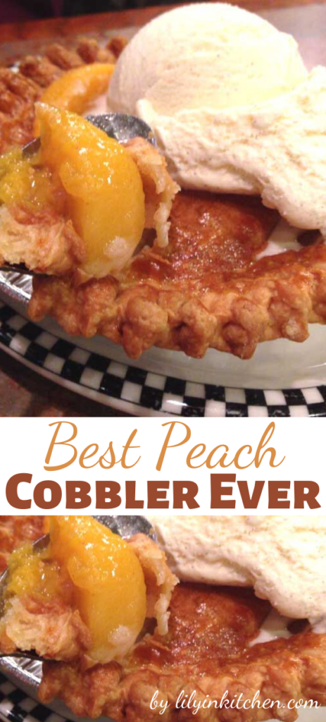 People are saying I can't tell you it's the best cobbler you've ever had. I'll just tell you, it's the best cobbler I have ever had. But if you have eaten a better one, you better be sending us the recipe! Don't hold out.