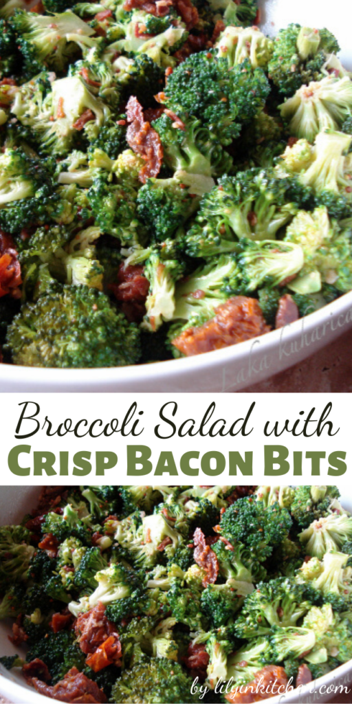This is the classic Broccoli Salad with Crisp Bacon Bits that everyone loves. Crispy, crunchy, and loaded with bacon-y goodness!