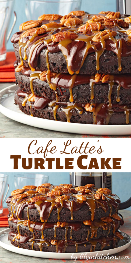 The Turtle Cake is clearly the most famous dish to come out of the longtime restaurant, where it has been a signature item since Cafe Latte opened in 1985.