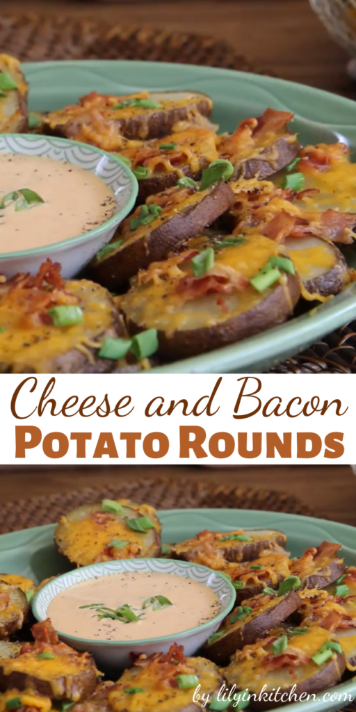 Potatoes, cheese and bacon–these Cheese and Bacon Potato Rounds are a great combination! Serve with sour cream if you so desire.