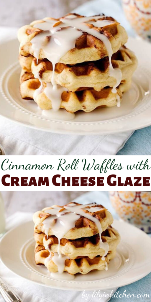 These Cinnamon Roll Waffles with Cream Cheese Glaze are sure to change up the weekend cinnamon roll routine. Your not even gonna believe how easy they are to make!