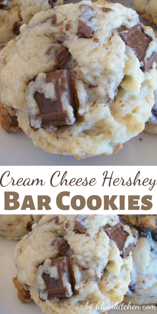 So soft, so chocolatey, SO DELICIOUS! When I crave cookies…it is THESE Cream Cheese Hershey Bar Cookies!