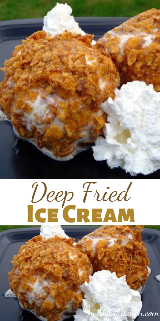 Oh how I have fond memories of eating these as a child. Now…I can have Deep Fried Ice Cream anytime I want, and maybe even share some with the kiddos.
