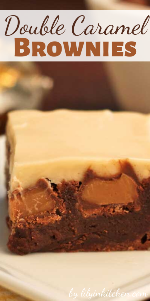 These Double Caramel Brownies start with a simple, one bowl brownie recipe…then after they are baked, chocolate covered caramels are pressed into the hot brownies. Cream cheese icing infused with caramel completes this dessert.