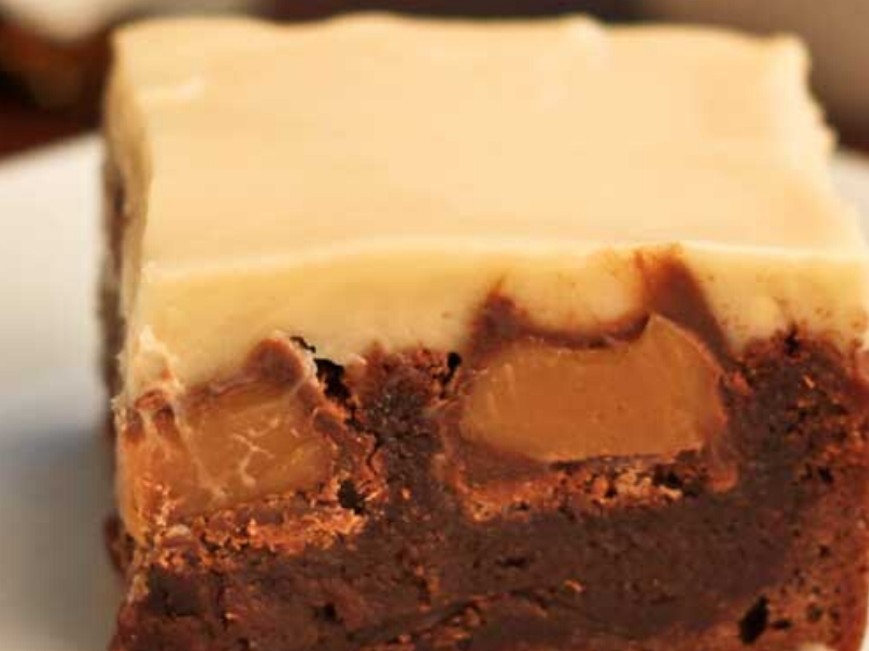 Double Caramel Brownies
