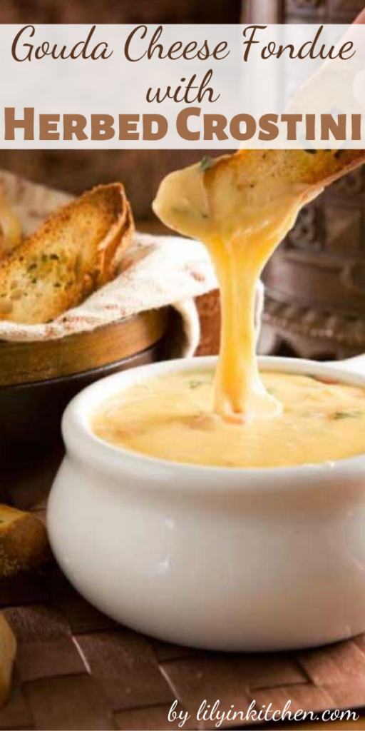 Can you think of anything else better on Earth than warm, melty, gooey Gouda Cheese Fondue? I didn't think so!