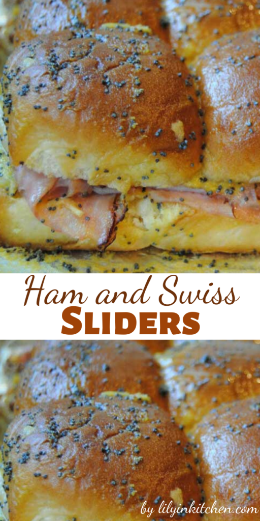 I have seen these little Ham and Swiss Sliders around the blogosphere and I immediately knew I would love them. I was right!