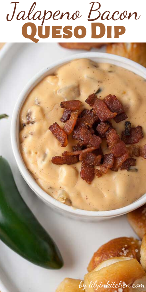 There are hot dips…and then there's this Jalapeno Bacon Queso Dip. With chopped bacon and a kick of garlic…it's a keeper!
