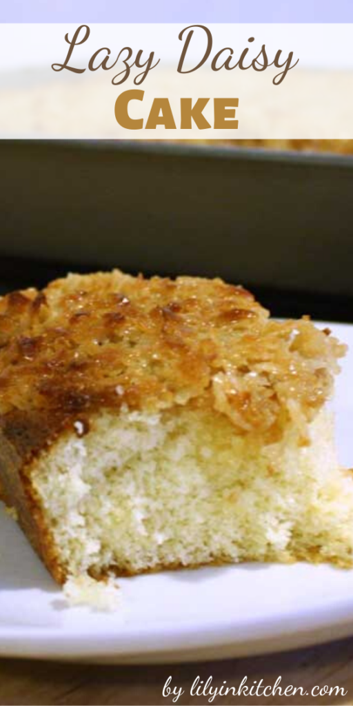 There is just something deeply satisfying about this Lazy Daisy Cake's sweet, almost caramelized, topping in combination with the soft fluffy interior.