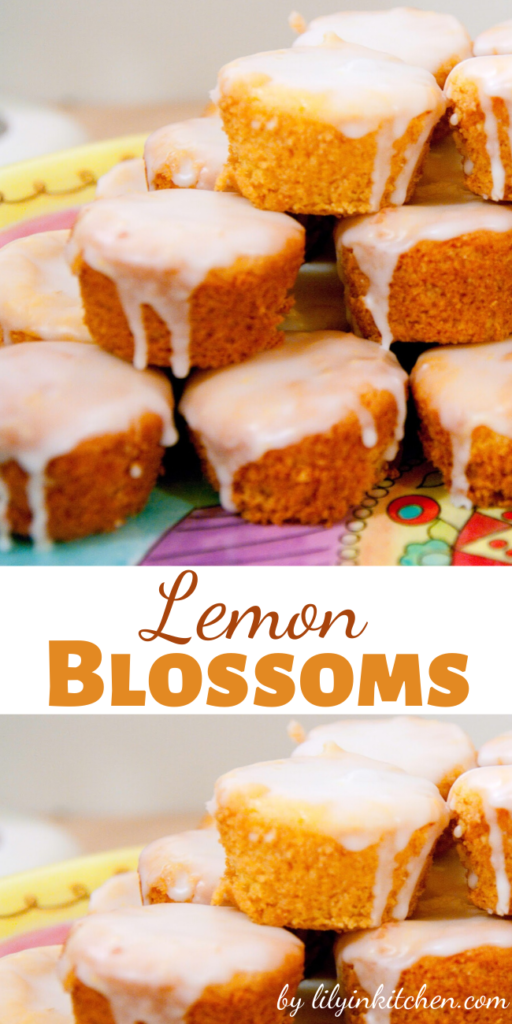 How can you not love a bite sized morsel of sunshine? These Lemon Blossoms take no time at all to make, are cute as heck, and taste so sweet and bright.