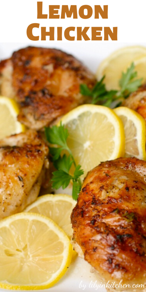 This easy lemon chicken recipe is one of our most popular main dish chicken recipes. Pair it with crisp veggies and a side of rice for a delicious dinner.