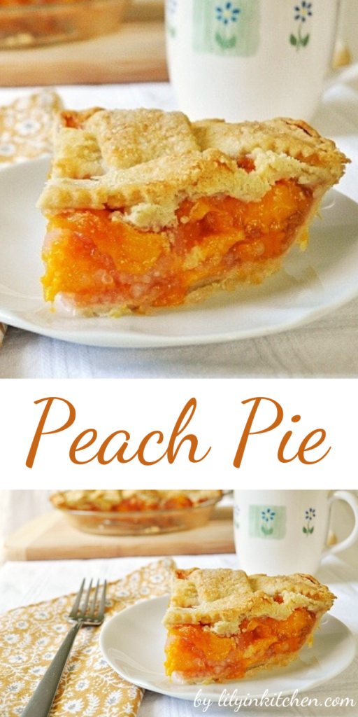 I was so thrilled with how this peach pie came out, and even more thrilled at how yummy it was.  Who knew peach pie was so good???  Now I'm kicking myself for waiting so long to make it!