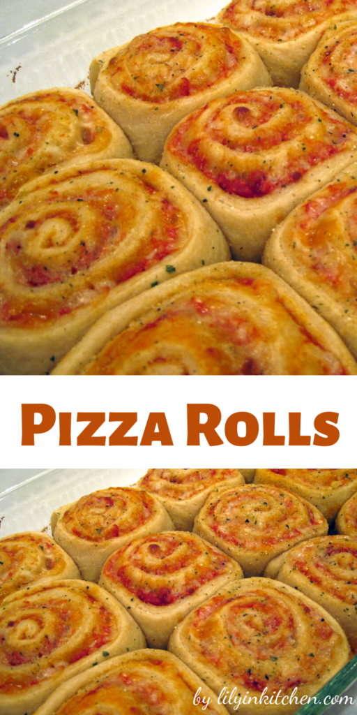 These pizza rolls are so cute, and not hard to make. Plus it's pizza…so EVERYONE will love them!