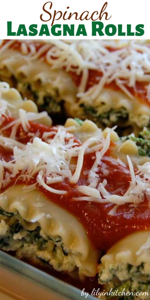 If you are wanting lasagna without all of the work, this recipe for Spinach Lasagna Rolls is for you. So quick and easy that you can enjoy it any night of the week.