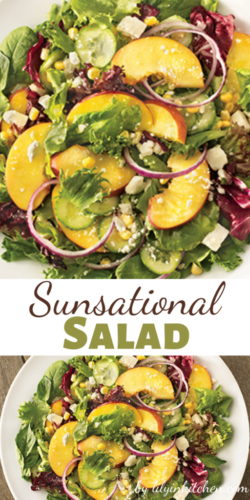 A light, healthy, refreshing summer salad. This Sunsational Salad is perfect for when all of the traditional BBQ sides start to weigh you down.