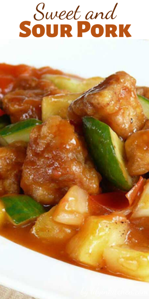 Sweet and sour pork is one delicious dish, and my sons tell me this dish tasted just like the one at the restaurants.